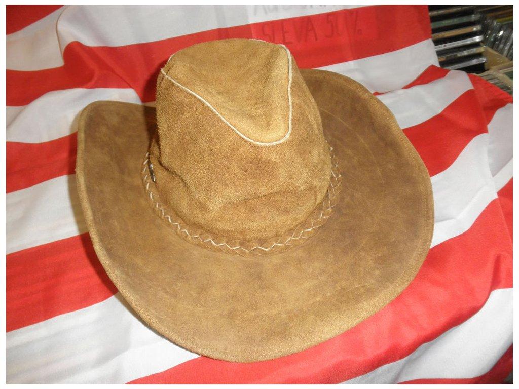 """Kožený westernový klobouk """"Cowboy"""""""
