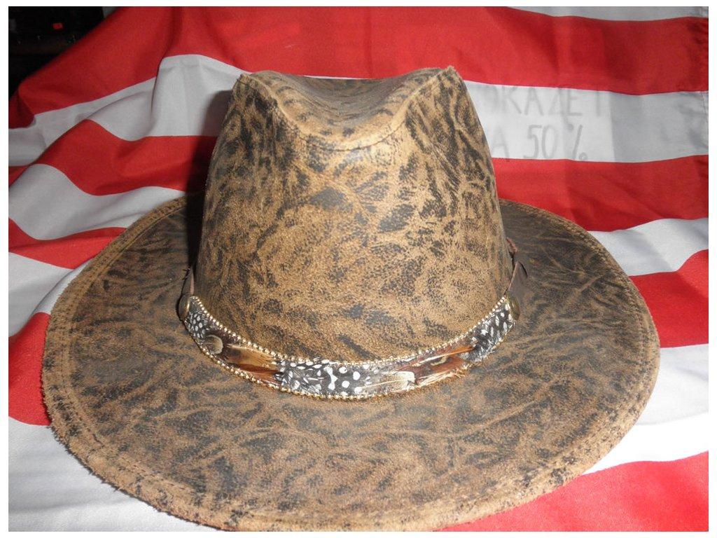 """Westernový klobouk  """"DUNDEE"""" kožený"""