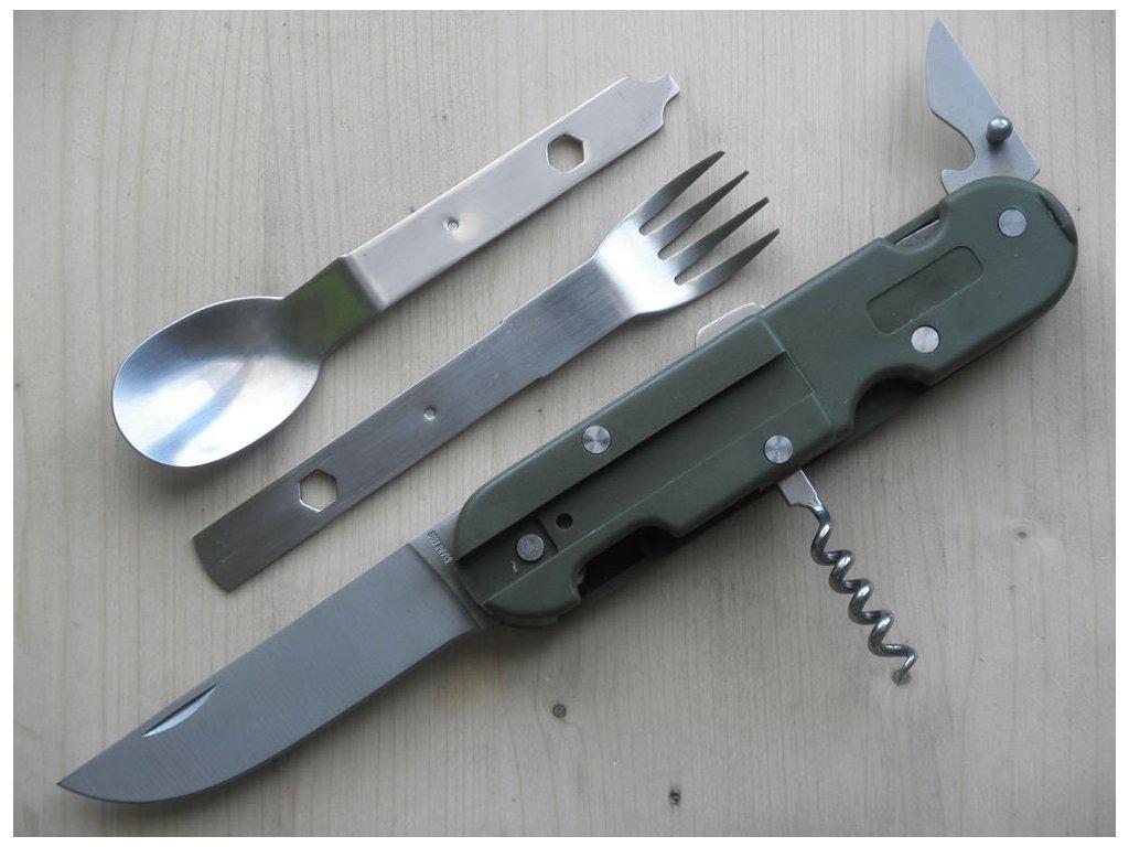 BW otevírací nůž s příborem a otevírákem