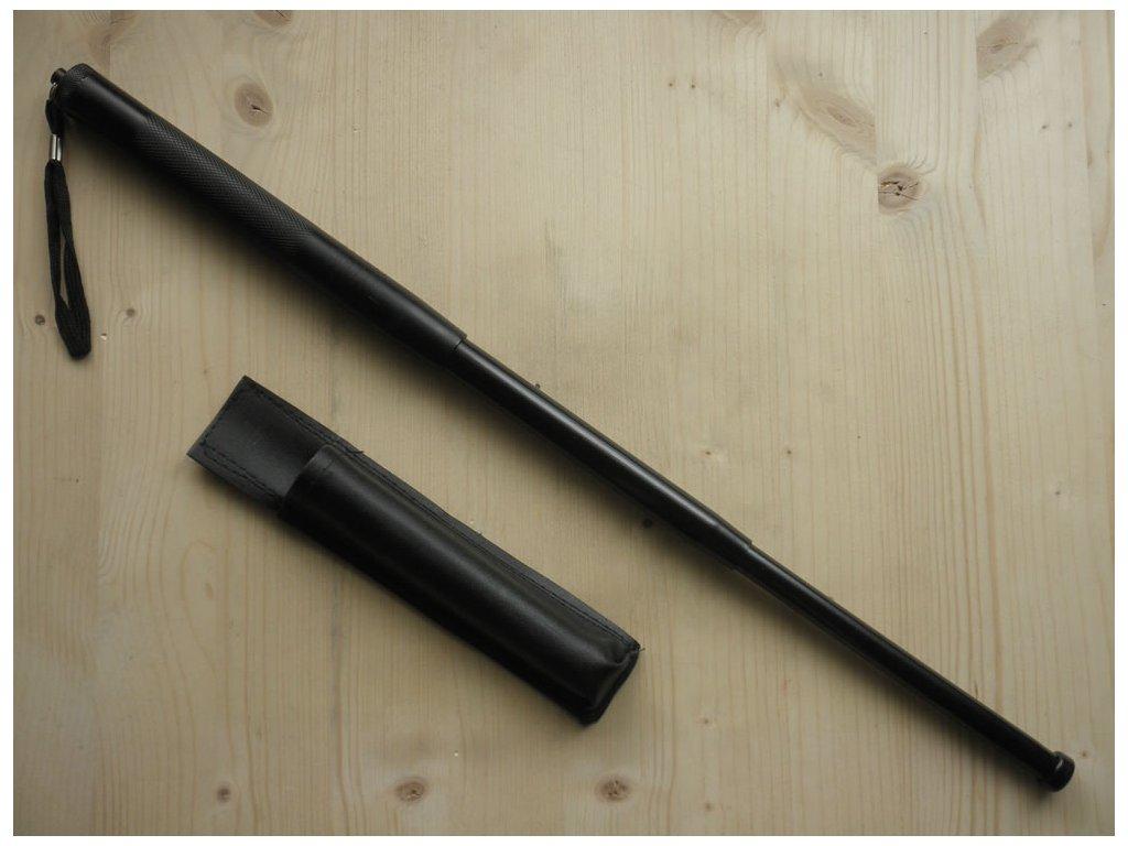 Teleskopický obušek černý - 50cm trojdílný