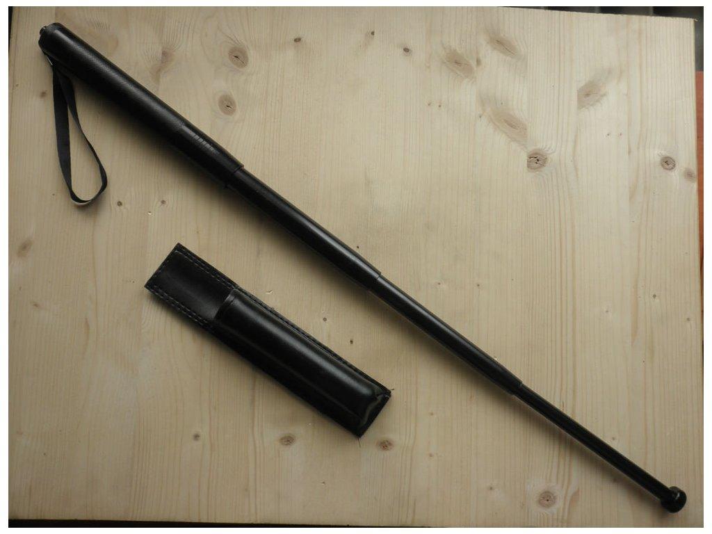 Teleskopický obušek černý - 63,5cm čtyřdílný