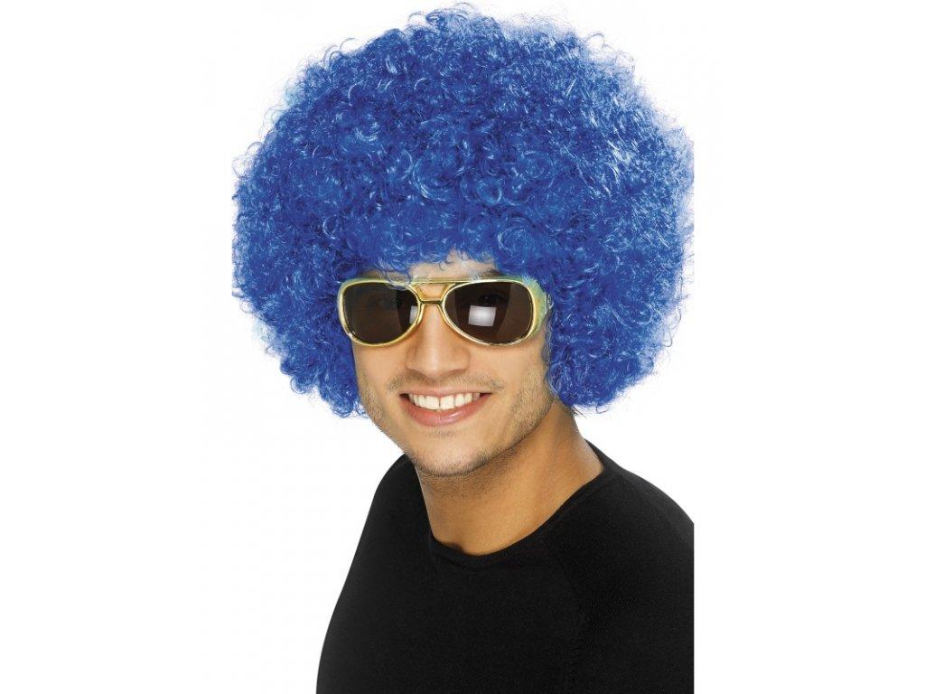 Paruka - Funky Afro - modrá