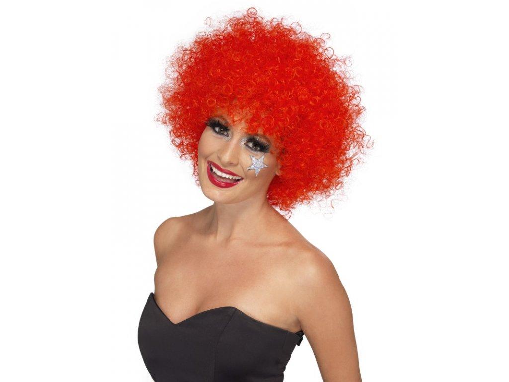 Paruka - Funky Afro - červená