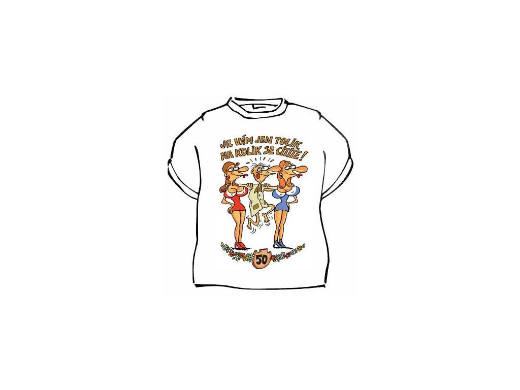 Výročí muž (50, nebo 60 - vyberete při volbě velikosti) triko bílé
