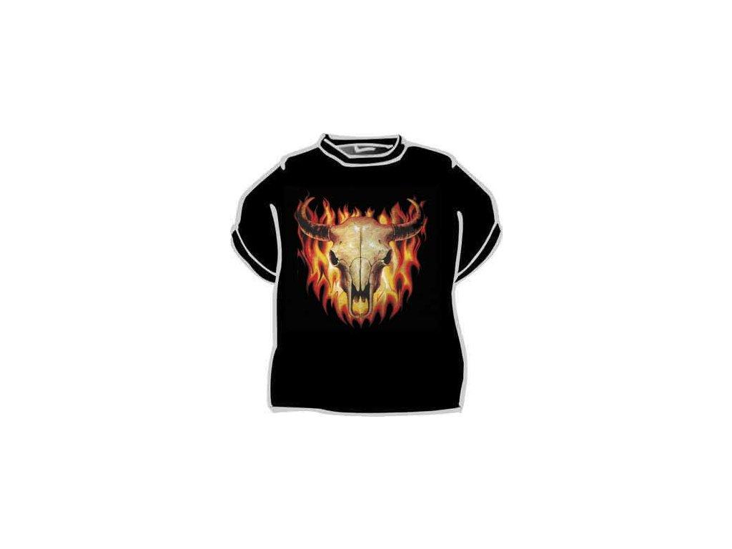 Býk v ohni - černá
