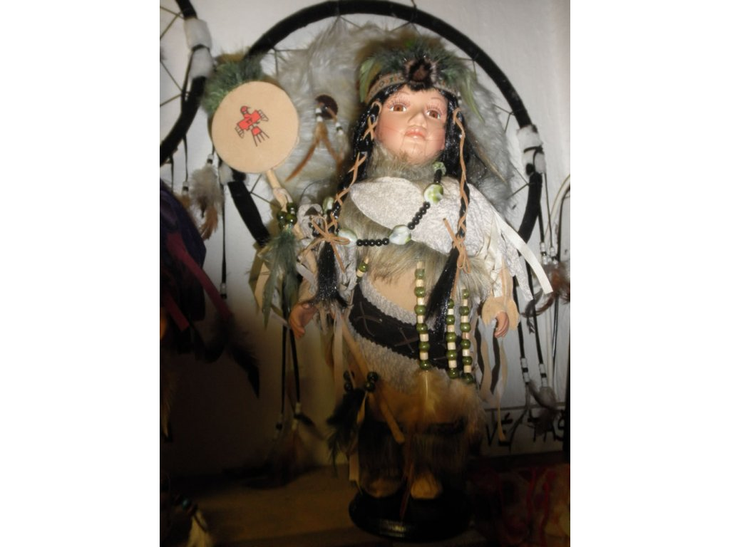 Indiánka s orlicí - 40cm