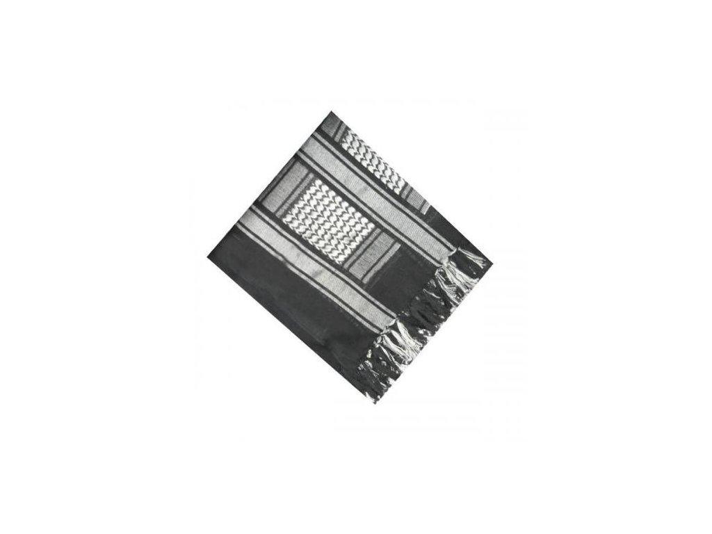 Šátek palestina černá/stříbrná