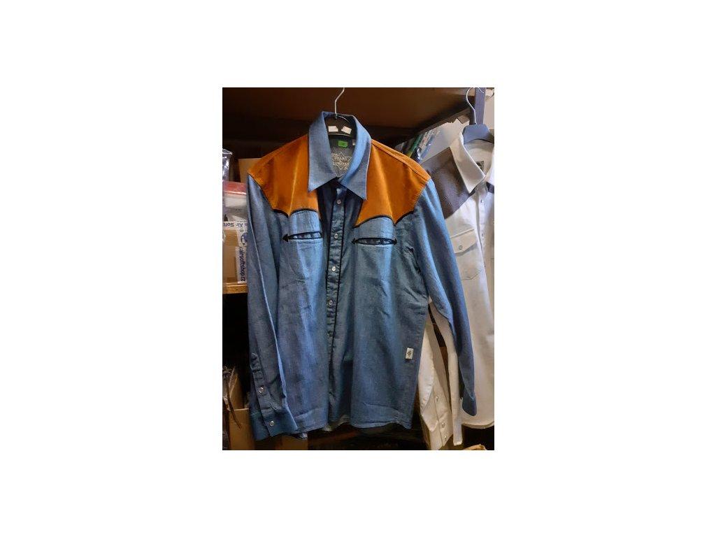 Westernová košile COWBOY BLUE M/L