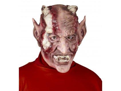 Čert - Latexová maska ohnivého ďábla