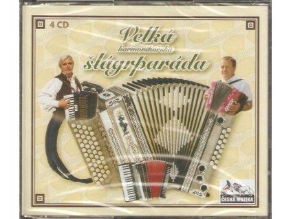 4CD Velká harmonikářská šlágrparáda - originál zabalené