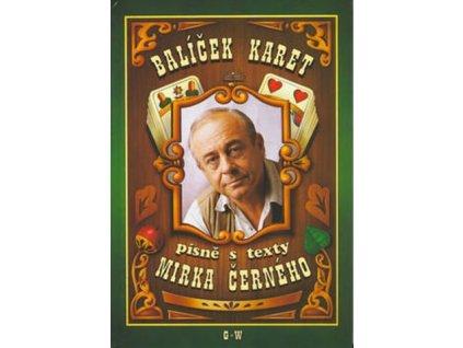 Balíček karet písně s texty Mirka Černého