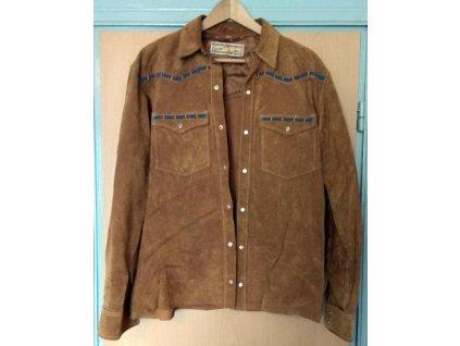 kozena indianska bunda teddy s my skin jacket vysivana velikost m 99998239
