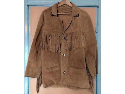 kozena indianska bunda s trasnemi velikost m 99997381