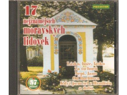 CD 17 nejznámějších moravských lidovek