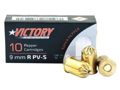 Plynové náboje PV S 9mm revolver 10ks Supra Pepper Pobjeda Victory