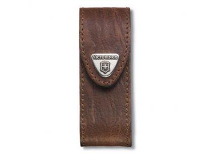 Kožené pouzdro hnědé na nože o velikosti 91 mm se dvěma až čtyřmi vrstvami želízek 4.0543