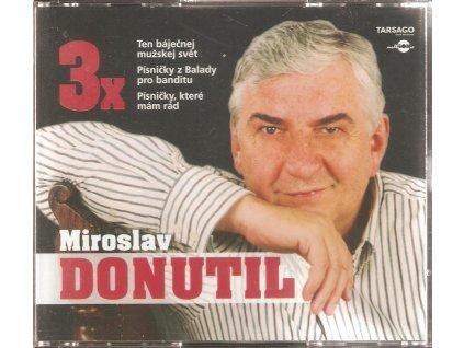 3CD box - MIROSLAV DONUTIL Ten báječnej mužskej svět, Písničky z Balady pro banditu, Písničky,které mám rád