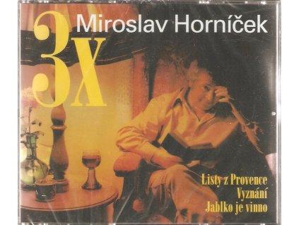 3CD Box  MIROSLAV HORNÍČEK - Listy z Provence, Vyznání, Jablko je vinno