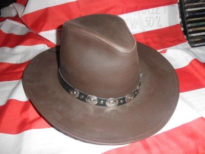 """Westernový klobouk """"Mc Leod"""" kožený"""