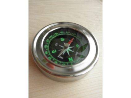 Kapesní kompas chromovaný