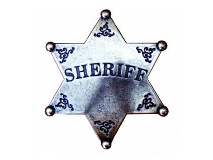 Šerifská hvězda-Silver