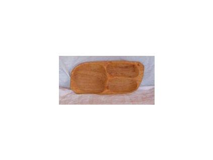 Tác dřevěný 3-dílný, rozměr v cm:cca 43 x 22