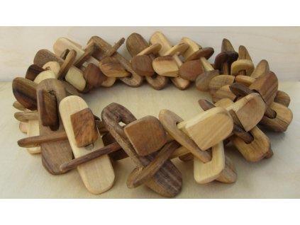 Podložka pod kotlík dřevěná - věneček, rozměr v cm:cca 23 - 25