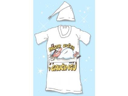 Noční košile + čepeček - Mistr světa v gaučingu