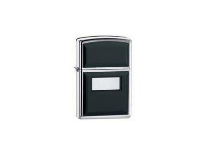 Zippo-355-Ultralite-black-hp-chrom-Zapalovač