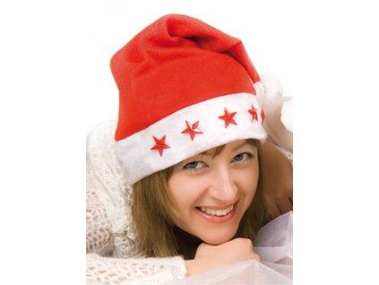 Čepice Santa s blikajícími hvězdičkami ZHL 13215