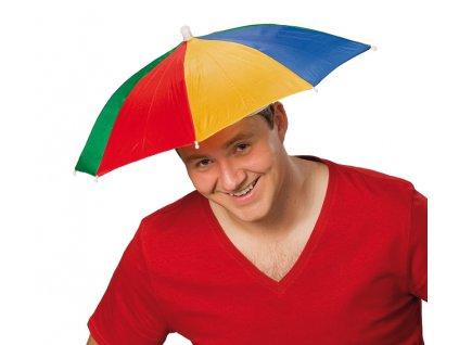 Deštník - slunečník na hlavu skládací