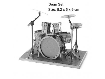 Kovový model - bicí souprava.