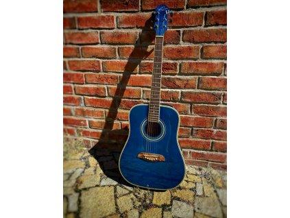 3/4 kytara Oscar Schmidt by Washburn dreadnought blue