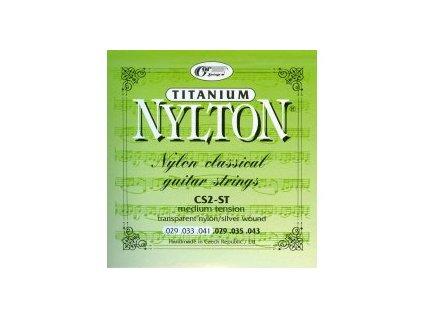 NYLTON CS2–ST - TITANIUM (.029 - .043) – SADA NYLONOVÝCH STRUN NA KLASICKOU KYTARU