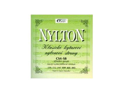 NYLTON CS4-SB - SADA NYLONOVÝCH STRUN NA KLASICKOU KYTARU černý nylon