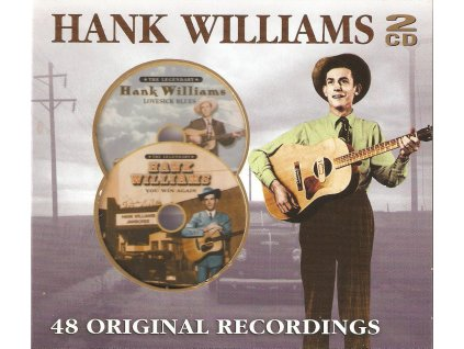 2CD HANK WILLIAMS - 48 ORIGINAL RECORDINGS