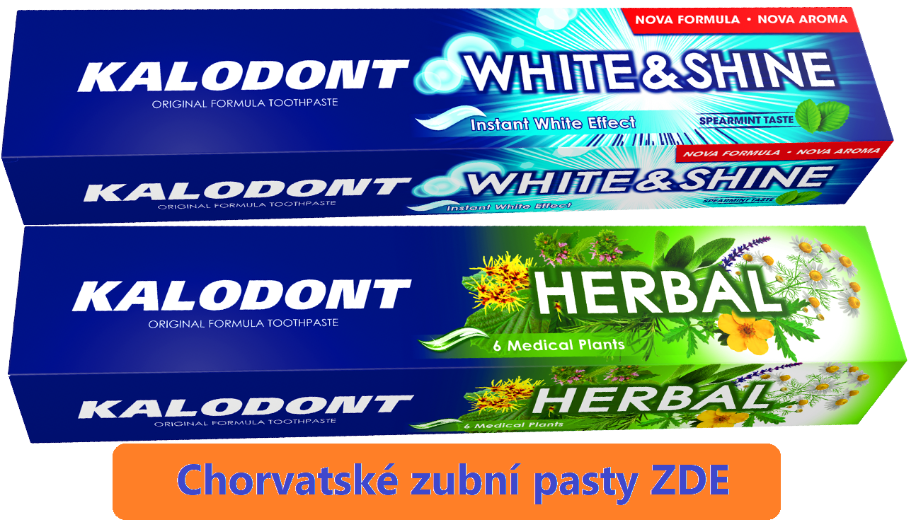 Chorvatské pasty na zuby