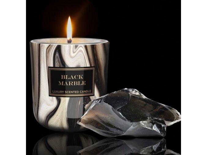 bartek candles svicka mramor black marble