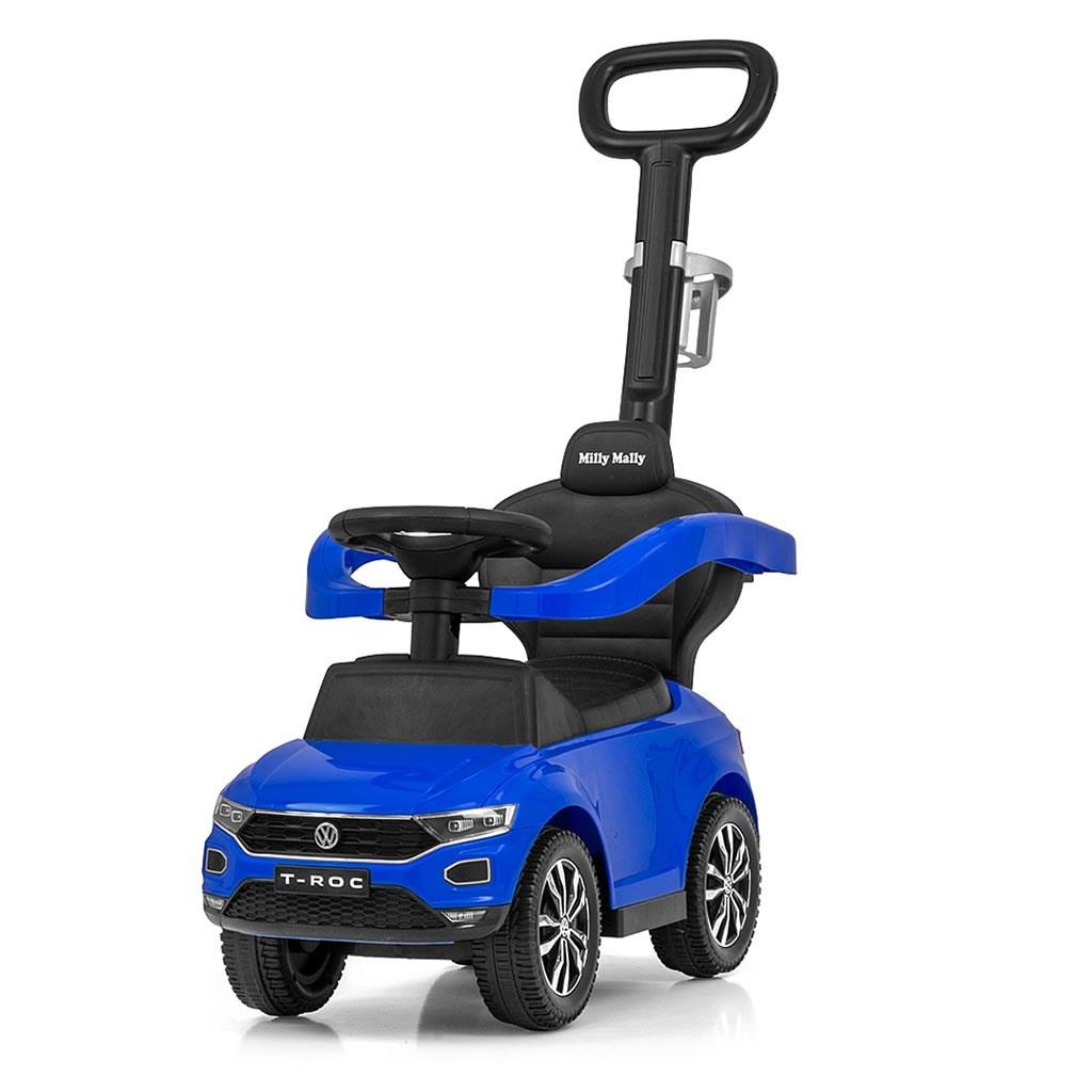 Odrážedlo s vodící tyčí VOLKSWAGEN T-ROC Barva: Modrá