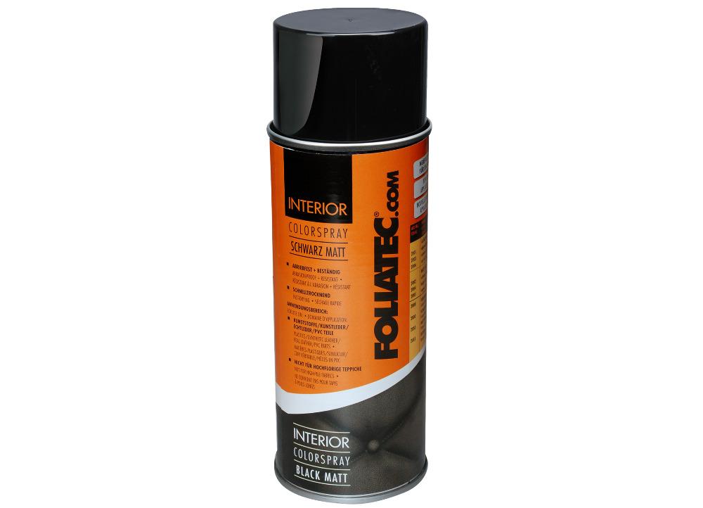 FOLIATEC barva na interiér - Interior Color Spray, barva černá matná, objem: 400 ml