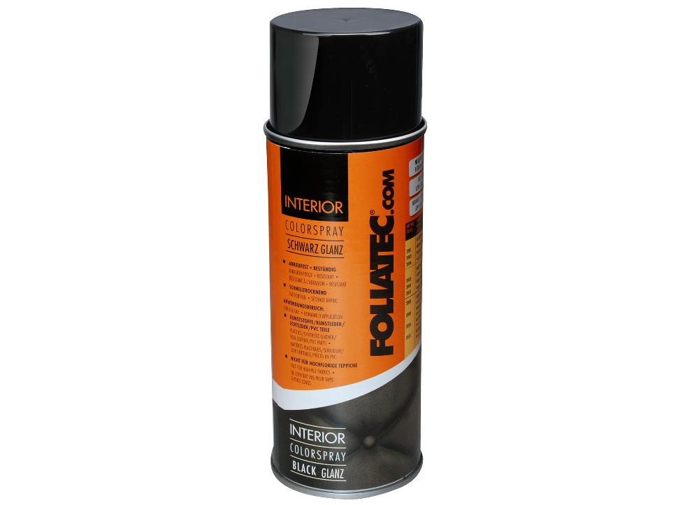 FOLIATEC barva na interiér - Interior Color Spray, barva černá lesklá, objem: 400 ml
