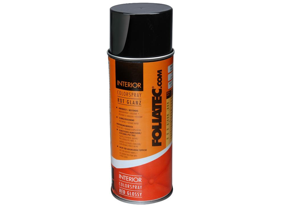 FOLIATEC barva na interiér - Interior Color Spray, barva červená lesklá, objem: 400 ml