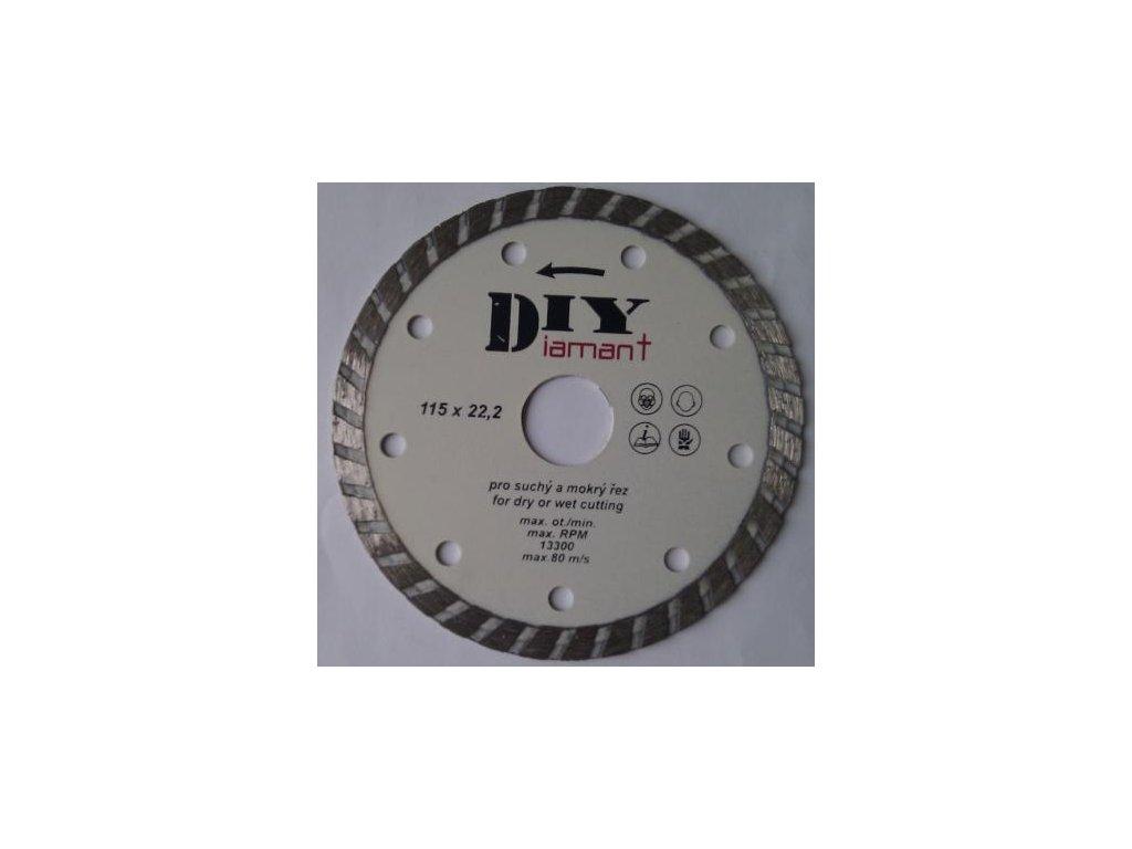 DIYT125 - Diamantový řezný kotouč DIY - TURBO
