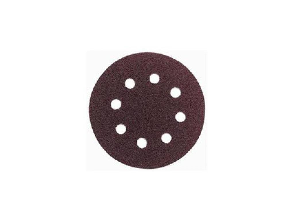 Brusný disk - pr. 125 zr. 40 pro ESM1007, ESM1009, WU652 (suchý zip, 8 děr)