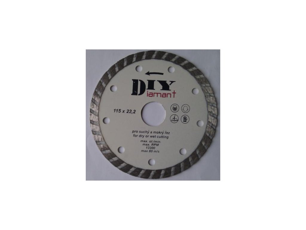 DIYT180 - Diamantový řezný kotouč DIY - TURBO