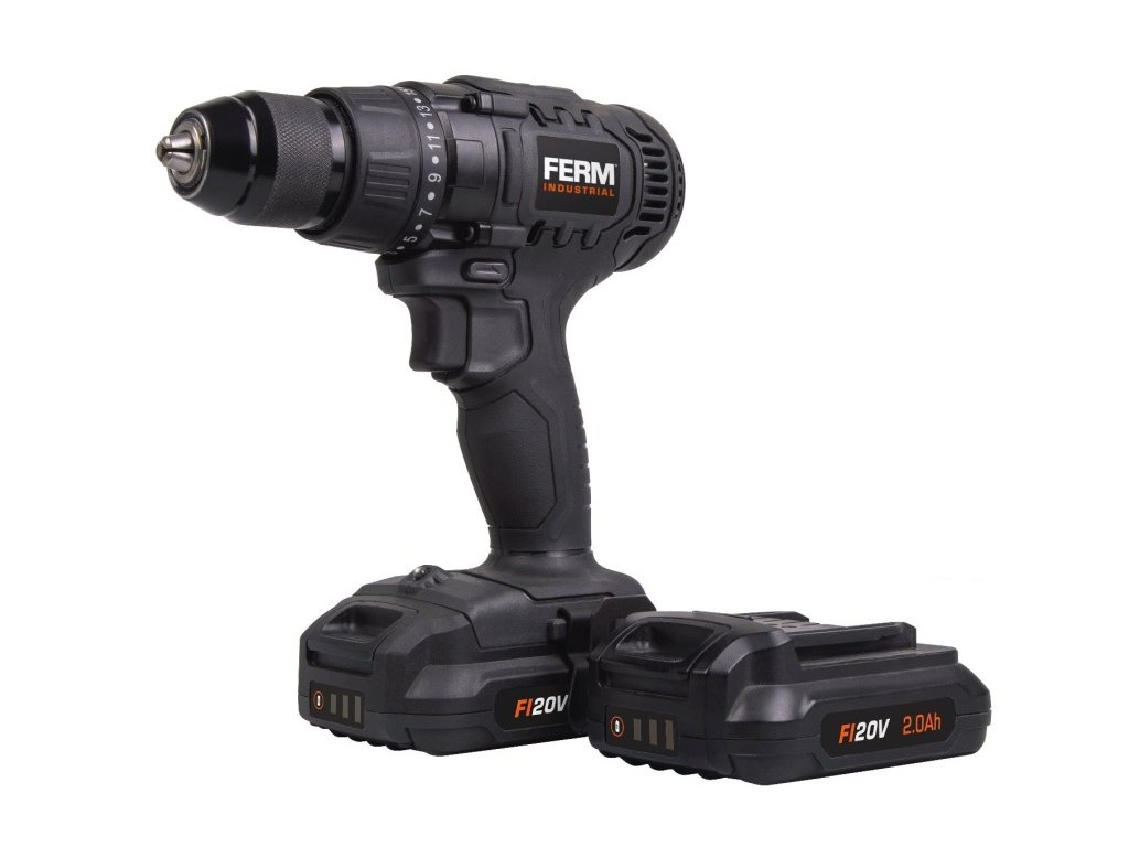 Aku vrtačka akce FERM Industrial CDM1141P Li-ion 20V - 2.0Ah - 2 baterie