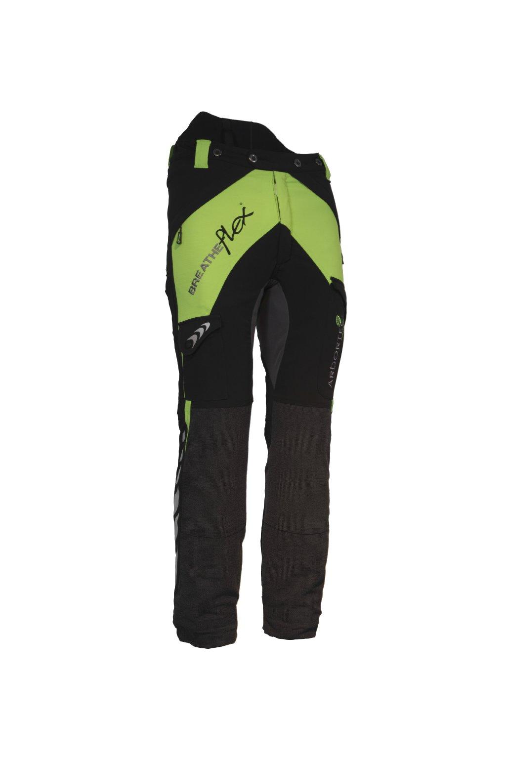 Protipořezové dámské kalhoty Breatheflex zelené Class1/TypeC Reg