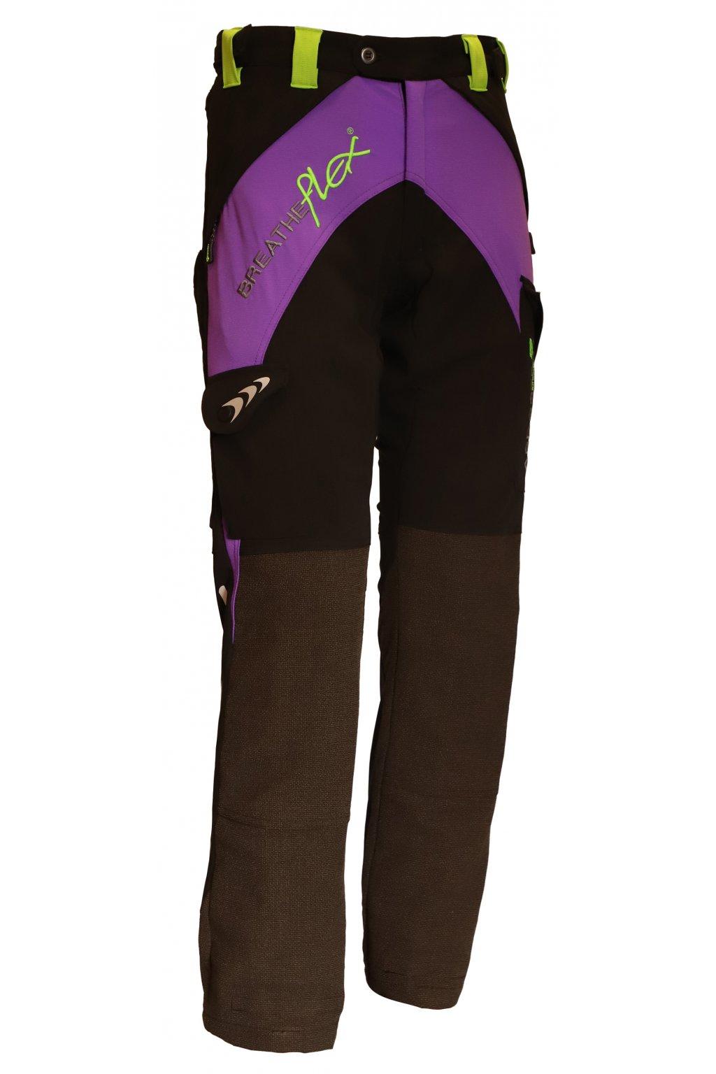 Protipořezové dámské kalhoty Breatheflex fialové Class1/TypeC Reg