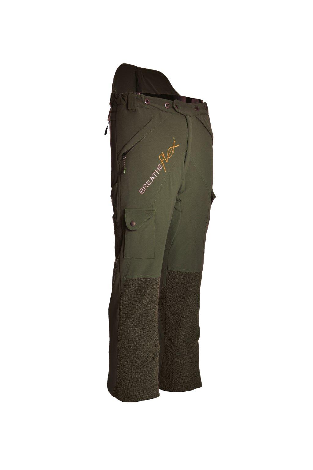 Protipořezové kalhoty Breatheflex olivové Class1/TypeC Reg