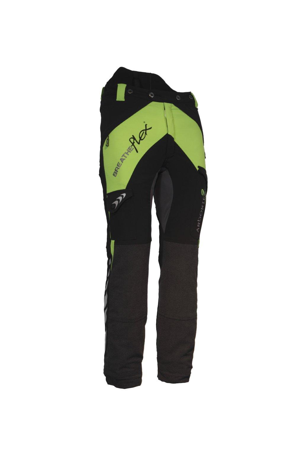 Protipořezové kalhoty Breatheflex zelené Class2/TypeC/prodloužená délka